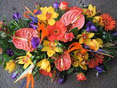 26MT Red Anthurium, Bird of Paradise, Orange Gerbera, Purple Lisianthus, Yellow Orchid