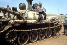Syrian T-55 1967 (Six Day War) with paint and mud Camouflage.