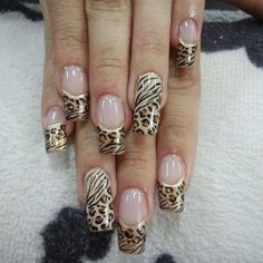 Nails gel, we adopt or not? - My Nails Diy Nail Designs, Acrylic Nail Designs, Fancy Nails, Trendy Nails, Hair And Nails, My Nails, Leopard Print Nails, Leopard Prints, Acryl Nails