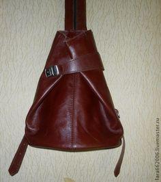 Женская сумка рюкзак из натуральной кожи 2 - коричневый,сумка женская