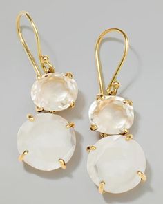 18k Gold Rock Candy Gelato Oval Small Snowman Earrings by Ippolita at Neiman Marcus.<3995<3