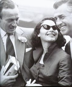 David Niven, Ava Gardner and Stewart Granger - I love the emotion in this photo