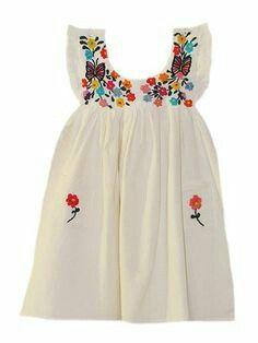 Mexican flower dress