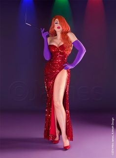 Cosplay Costume Jessica Rabbit Cosplay - - More memes, funny videos and pics on Cosplay Dress, Cosplay Outfits, Cosplay Girls, Casual Cosplay, Amazing Cosplay, Best Cosplay, Jessica Rabbit Costume, Jessica Rabbit Makeup, Jessica Rabbit Dress