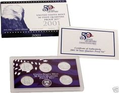 2001 US MINT 50 STATE QUARTERS PROOF SET WITH BOX COA in Coins & Paper Money, Coins: US, Proof Sets | eBay