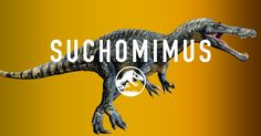 The Suchomimus is known for the distinctive sail on its lower back and the huge, foot-long claws on each thumb that it uses to catch fish.