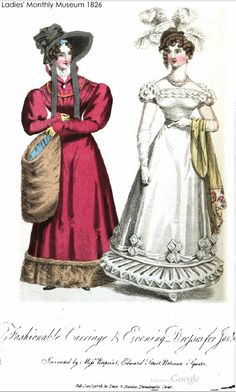 Two Nerdy History Girls: Fashions for January 1826