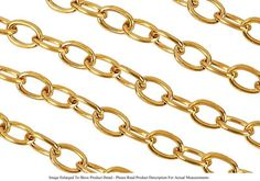 22k Gold Plated 5mm Oval Jewelry Link Cable Chain Bracelet Sold By The Foot