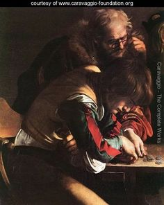 The Calling of Saint Matthew (detail 1) 1599-1600 - Caravaggio - www.caravaggio-foundation.org