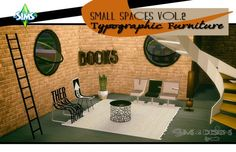 Sims 4 Designs: Small Spaces Vol.2: Typographic Furniture • Sims 4 Downloads