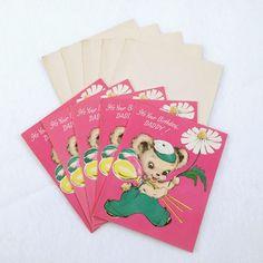 Vintage Greeting Card Lot 5 Unused 50s-60s Daddy Dad Birthday Cards & Envelopes #GartnerAndBenderInc #BirthdayAdult