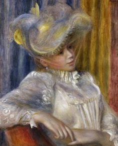 Pierre-Auguste Renoir ~ Femme au chapeau ~ 1891