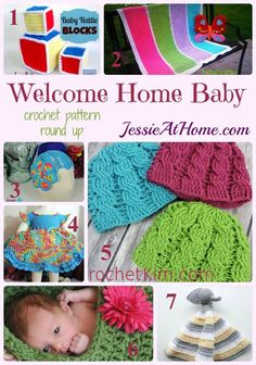 Welcome Home Baby crochet pattern round up from Jessie At Home: