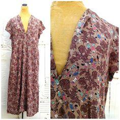 VINTAGE 1930's SILK PRINT DRESS