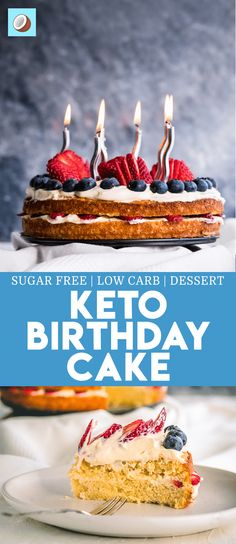Wonderful Image of Low Carb Birthday Cake Alternatives . Low Carb Birthday Cake Alternatives Keto Birthday Cake How To Bake For Your Keto Friends And Family Keto Friendly Desserts, Low Carb Desserts, Low Carb Recipes, Easy Recipes, Ketogenic Diet, Ketogenic Recipes, Cheesecake Brownies, Sugar Free Recipes, Almond Recipes