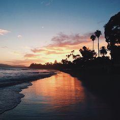Sunset in Santa Barbara. Photo courtesy of iamdannykim on Instagram.