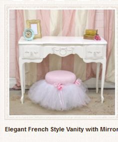 171814 Elegant French Style Vanity with Mirror