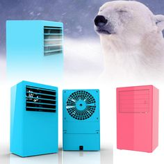 Portable Mini Air Conditioner Table Desktop Air Conditioning Fan Touch Control