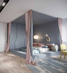 19 Creative Ways Dream Rooms for Teens Bedrooms Small Spaces - homemisuwur Modern Bedroom, Bedroom Furniture Design, Bedroom Interior, Bedroom Makeover, Bedroom Design, Luxurious Bedrooms, Dream Rooms, Interior Design Bedroom, Bedroom Decor