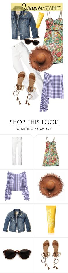 """Summer Staples"" by missbeaheyvin ❤ liked on Polyvore featuring Nili Lotan, Nanette Lepore, Petersyn, Hollister Co., Clinique, RetroSuperFuture, summerstyle and shopstylealumni"