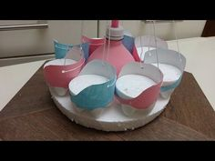 Recycled Art Fun for Kids: Carousel out of Plastic Bottles Карусель из П...