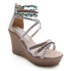 Wholesale Elegant Women's Sandals With Weaving and Cross-Straps Design (WHITE,39), Sandals - Rosewholesale.com