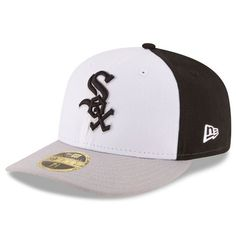 Chicago White Sox New Era Front N Center Low Profile 59FIFTY Fitted Hat - White/Gray - $34.99