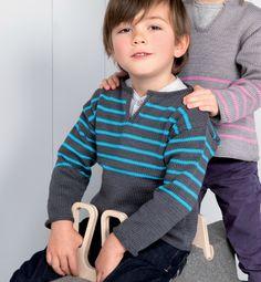 Un modèle en coton de tunique facile à enfiler ! de La Maille aux Mailles - free
