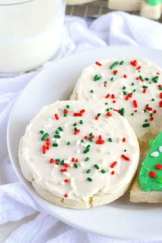 Easy, no-chill Gluten Free Soft Frosted Sugar Cookies are a must-make cookie. They roll out beautifully and hold their shape exceptionally well.
