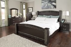 The 'Vachel' bedroom pictured w/ the poster bed
