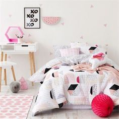 We Love this Adairs Kids RJL Billie Quilted Bedlinen - Soft Pink love this sooo much but out of stock