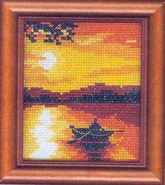 Закат на озере | Викин сундук