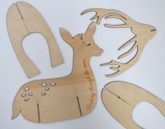 Etched Plywood Festive Reindeer Christmas Decoration by NettyandDi