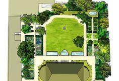 Jardin du Ministère de l'agriculture et de la pêche à Paris - PLAN du PROJET - Concours GAGNE - Conception : Christophe Naudier Architecte paysagiste