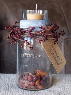 Candle mason jar