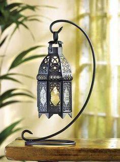 Moroccan Style Tabletop Lantern Lamp New | eBay $10