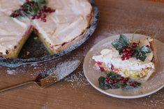 Tvarohovo-ríbezľový koláč pod snehom