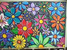 flower mural - Google Search