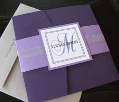 Square Elegance Lavender Silver and Purple  by TheBestDIYInvites, $337.50