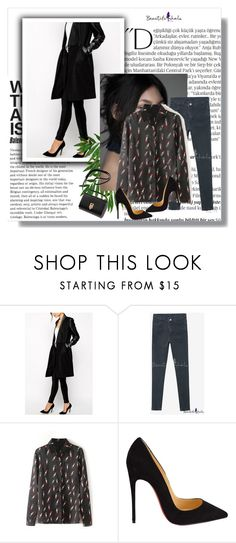 """bhalo"" by softicamina ❤ liked on Polyvore featuring Balmain, Christian Louboutin, women's clothing, women's fashion, women, female, woman, misses and juniors"