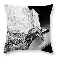 Up the Stairs San Miguel de Allende Mexico Throw Pillow by Cathy Anderson