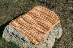 orange brown   Afghan Crochet Plaid Blanket OOAK von CrochetRagRug, €29.00