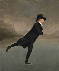 Reverend Robert Walker (1755 - 1808) Skating on Duddingston Loch, Sir Henry Raeburn (Scottish National Gallery)