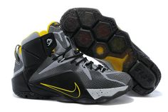 the best attitude 2870a ecc3f Buy 2015 Cheap Nike LeBron 12 Black Grey Yellow Basketball Shoes Online  from Reliable 2015 Cheap Nike LeBron 12 Black Grey Yellow Basketball Shoes  Online ...