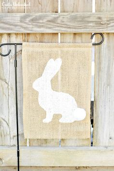 Easter is quickly approaching and it's time to bust out the spring decor. Spruce up your yard with handmade decor, like this super cute burlap Easter flag!