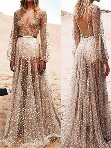 Weddings & Events Friendly Fairy White Evening Dress Deep V Neck A Line Tulle Sexy Backless Long Formal Dresses Evening Wear Boho Beach Maxi Evening Gowns