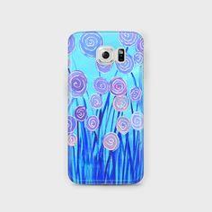 Blue & Lilac Flowers Samsung Case