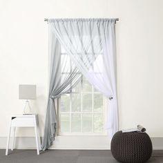 "Lola Two-Layer Reversible Sheer Curtain Panel - (58x84"")"