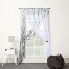 Lola Two-Layer Reversible Sheer Window Panel
