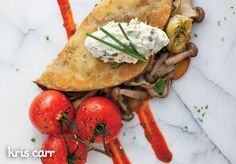 Crazy Sexy Kitchen Recipe: Chickpea Crepe (Farinata) w/ Artichokes & Mushrooms #vegan #recipes #glutenfree #healthy #breakfast #plantbased #whatveganseat